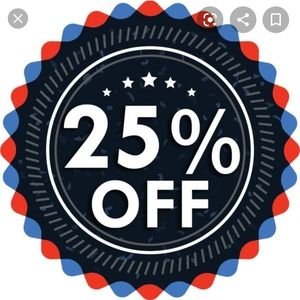 Automatic 25% off at checkout
